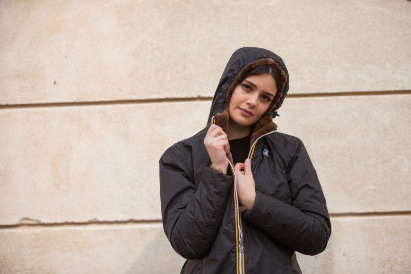 Rimessa a modello K-Way: cappottino reversibile con interno in visone rasato